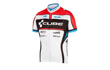 Cube Trui korte mouwen Teamline wit/zwart/rood/blauw